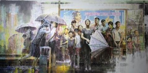 朝鲜画家的作品(韩联社/文康范教授提供)