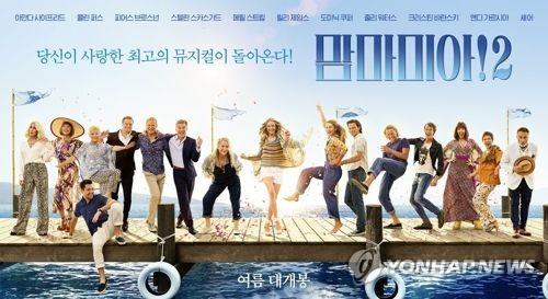 《妈妈咪呀2:再次出发》海报(韩联社/UPI韩国提供)