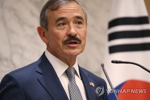 资料图片:美国驻韩大使哈里斯(韩联社)