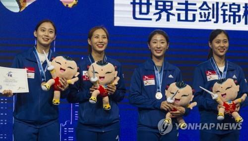 左起依次为尹智秀、崔秀娟(音)、黄仙妸和金志妍。(韩联社/欧新社)