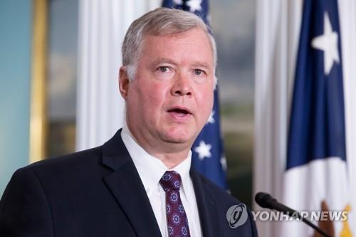 资料图片:美国国务院新任对朝政策特别代表斯蒂芬・比根(韩联社)