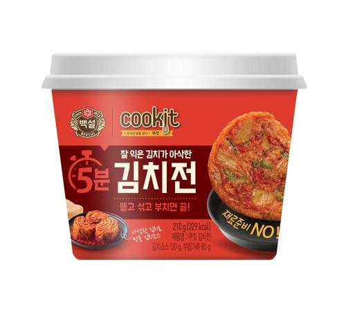 白雪cookit泡菜饼(韩联社/CJ第一制糖供图)