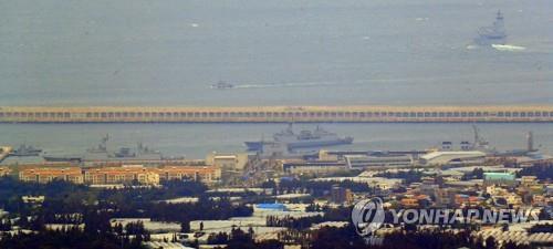 资料图片:海军济州基地全景(韩联社)