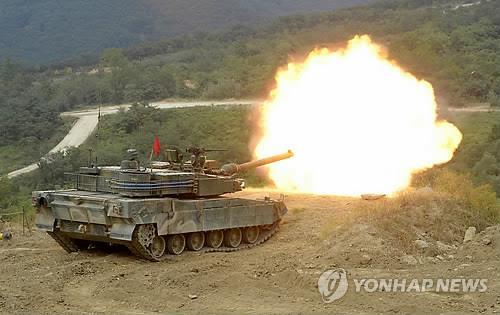 The K-2 main battle tank (Yonhap file photo)