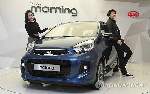 Kia launches revamped mini subcompact cars in home market for Kia motors south korea