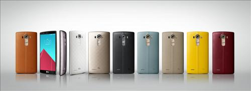 Different editions of the G4 smartphone released by LG Electronics Inc., South Korea's No. 2 tech giant, on April 29, 2015. (Photo courtesy of LG Electronics) (Yonhap)