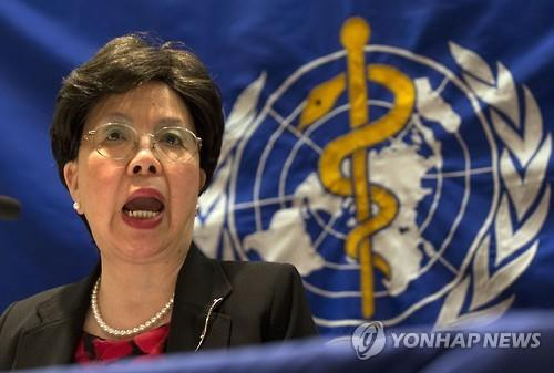 Margaret Chan, director general of the World Health Organization, speaks about the outbreak of the Middle East Respiratory Syndrome in South Korea during a press briefing in Seoul on June 18, 2015. (Yonhap)