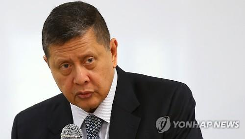Marzuki Darusman, U.N. special rapporteur on the human rights situation in North Korea, speaks to a press conference on Sept. 9, 2015 on the North's human rights violation. (Yonhap)