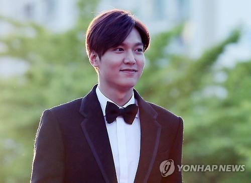 Actor Lee Min-ho. (Yonhap file photo)