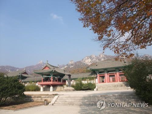 Ryongtong Temple, located in Kaesong, North Korea. (Yonhap)
