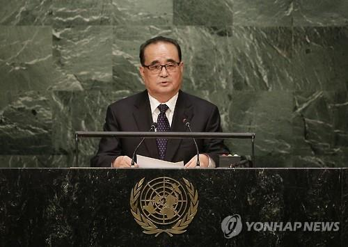 North Korean Foreign Minister Ri Su-yong