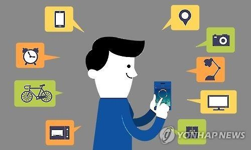 Graffic on Internet of Things network (Yonhap file graffic)