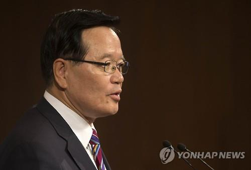 National Assembly speaker Chung Ui-hwa speaks during a Seoul forum on April 12, 2016. (Yonhap)