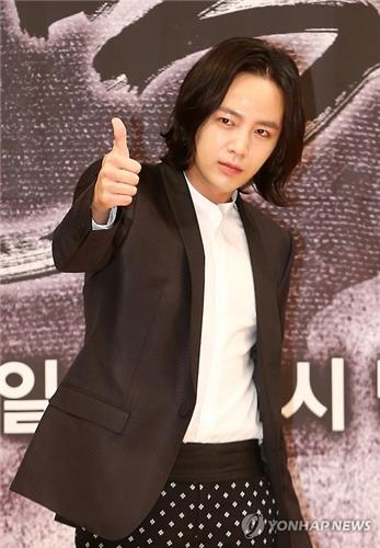 "Jang Keun-suk poses for a photo during a press conference of ""The Royal Gambler"" on March 24, 2016. (Yonhap)"