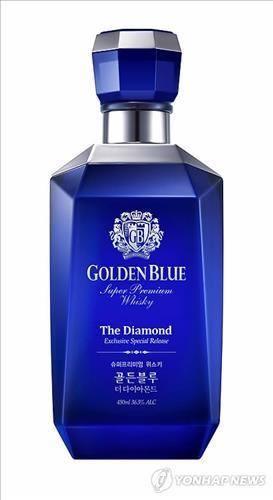 Bottle of Golden Blue whisky (Yonhap)