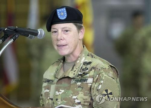 Brig. Gen. Tammy Smith takes office as the deputy commander of the Eighth Army of the United States Forces Korea (USFK) on July 7, 2016. (Yonhap)