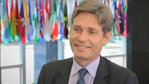 Tom Malinowski, assistant secretary of state for democracy, human rights and labor, speaks during an interview with Yonhap News Agency and Yonhap News Television at the State Department on July 7, 2016. (Yonhap)
