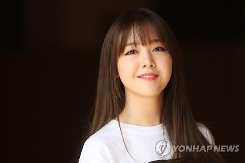 Minah of girl group Girl's Day poses for a photo during an interview in Seoul on July 19, 2016. (Yonhap)