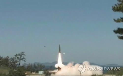 South Korea's Hyunmoo II ballistic missile (Yonhap file photo provided by the Ministry of National Defense)