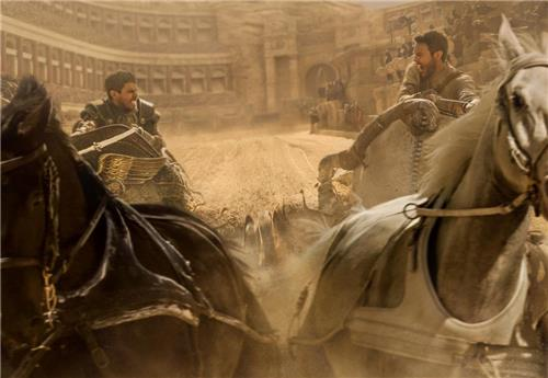 """A still from """"Ben-Hur,"""" the remake of the epic 1959 film (Yonhap)"""