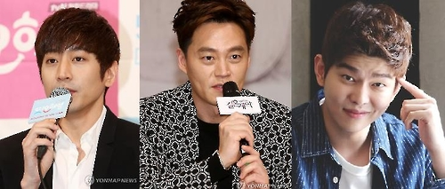 Actors Eric, Lee Seo-jin and Yoon Kyun-sang (Yonhap)