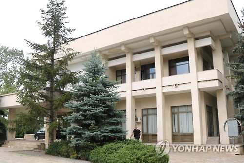 This photo, taken on Oct. 2, 2016, shows the North Korean Embassy building in Sofia, Bulgaria. (Yonhap)