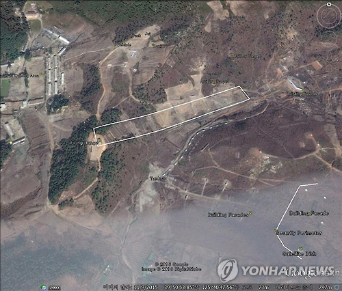 This satellite imagery taken in November 2015 and provided by the U.S. shows the Yeongbyeon nuclear facilities in North Korea. (Yonhap)