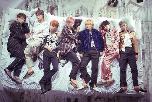 Members of South Korean boy group Bangtan Boys, or BTS, appear in this photo provided by Big Hit Entertainment. (Yonhap)