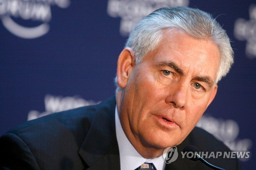 Exxon Mobil CEO Rex Tillerson, nominee for secretary of state