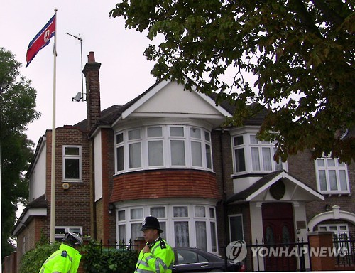 North Korean Embassy in London. (file photo)