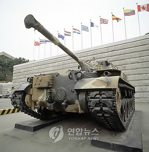 A retired M-47 tank at a war museum in Incheon. (Yonhap)