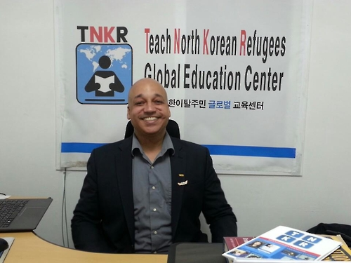 Casey Lartigue, co-founder of the Teach North Korean Refugees (TNKR) Global Education Center, poses for a photo on Dec. 20, 2016. The TNKR program aims to help North Korean defectors learn English free of charge by matching North Korean refugees with volunteer tutors. (Yonhap)
