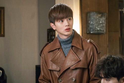 """This photo provided by tvN shows Yook Sung-jae of boy band appearing in the channel's fantasy drama """"Guardian: The Lonely and Great God."""" (Yonhap)"""