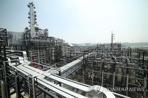 A petrochemicals plant in Ulsan, South Korea. (Yonhap file photo)