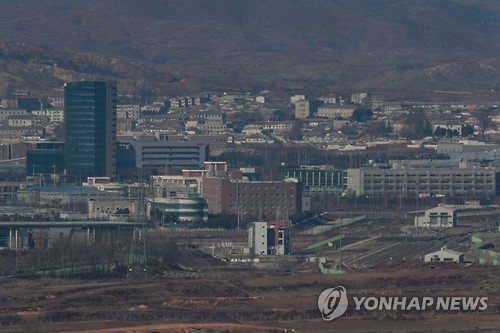 This photo taken on Feb. 6, 2017, shows the now-shuttered inter-Korean industrial complex in North Korea's border city of Kaesong. South Korea shut down the complex in February 2016 in response to Pyongyang's fourth nuclear test. (Yonhap)