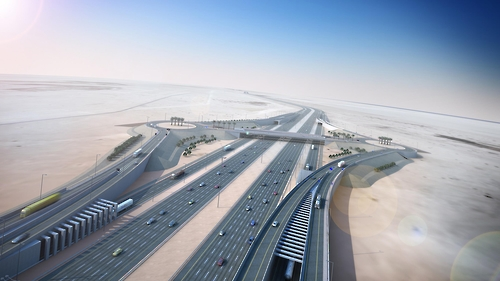 A rendering of the E-Ring expressway to be built in Qatar (Courtesy of Daewoo E&C)