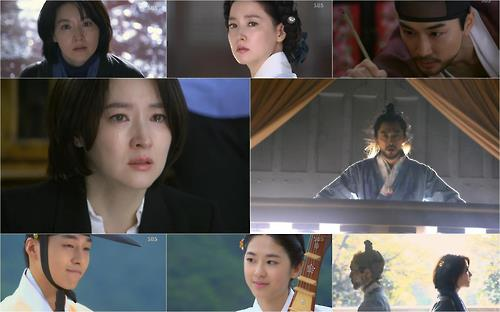 "This composite image captured from SBS TV's ""Saimdang, Memoir of Colors"" shows the series' main cast. (Yonhap)"