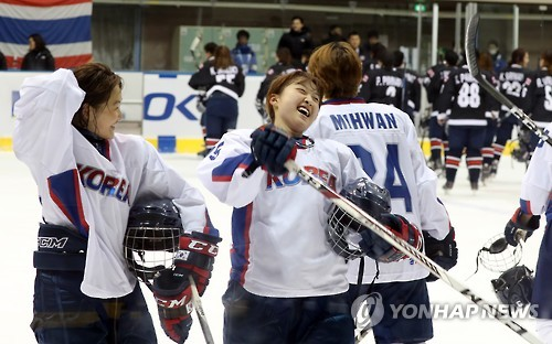 (LEAD) S. Korea notches historic victory over Thailand in Winter Asiad women's hockey