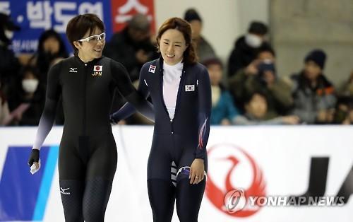 South Korean Speed Skater Lee Sang Hwa R And Japanese Skater Nao Kodaira