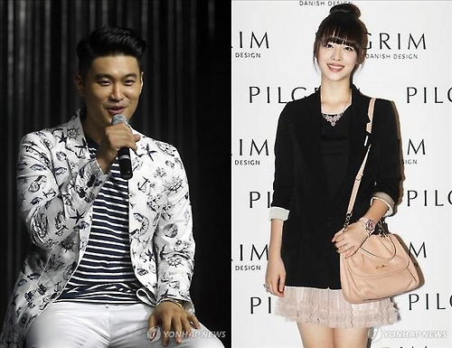 This composite photo shows Dynamic Duo's Choiza (L) and singer-turned-actress Sulli (R). (Yonhap)