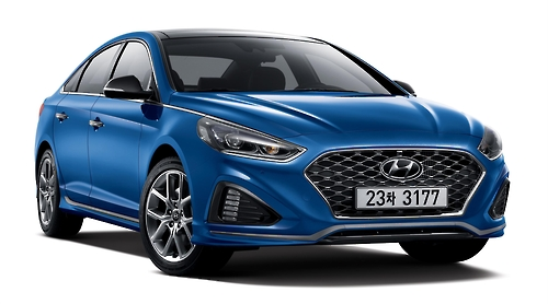 Hyundai Sonata facelift shown at home in South Korea