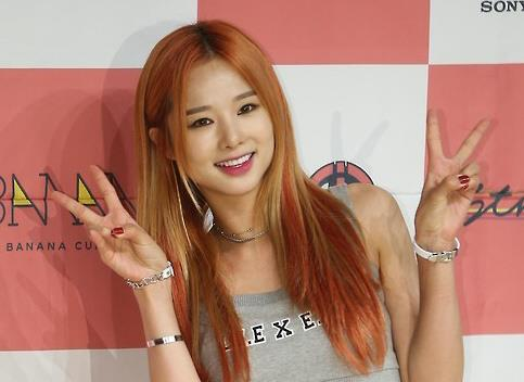 This undated file photo is of Solji from girl group EXID. (Yonhap)