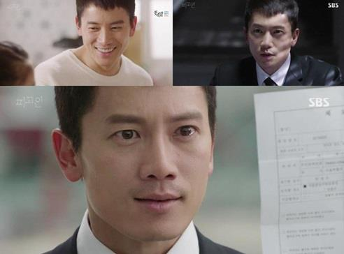 """This composite image captured from SBS TV's """"Defendant"""" shows actor Ji Sung as the show's protagonist Park Jung-woo. (Yonhap)"""