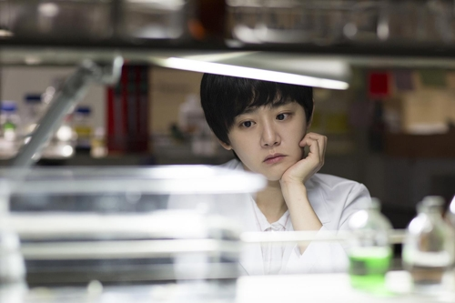 """This photo provided by Little Big Pictures shows actress Moon Geun-young as Jae-yeon in """"Glass Garden"""" (Yonhap)"""