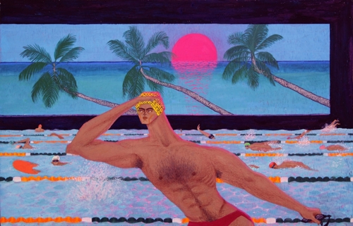 "This image provided by Yoy Han shows her work ""Tropical Pool."" (Yonhap)"