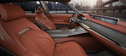 The GV80 Concept SUV's interior (Courtesy of Hyundai Motor) (Yonhap)