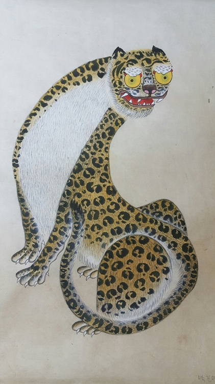 "The image provided by the Korean Folk Painting Association on April 20, 2017, shows Kang Min-ji's ""Tiger."" (Yonhap)"
