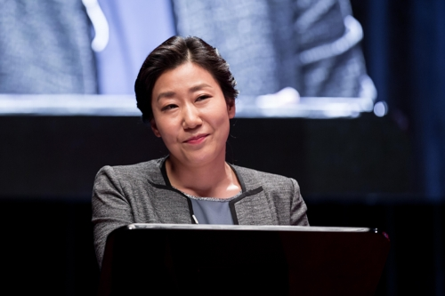 "This photo provided by Showbox shows actress Ra Mi-ran as Yang Jin-ju in ""The Mayor"". (Yonhap)"