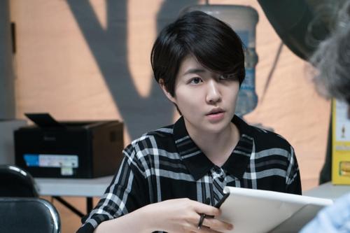 "This photo provided by Showbox shows actress Shim Eun-kyung as Park Gyeong in ""The Mayor"" (Yonhap)"