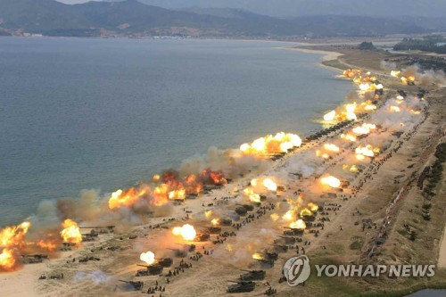 North Korea carries out 'large-scale' artillery drill, South Korea says